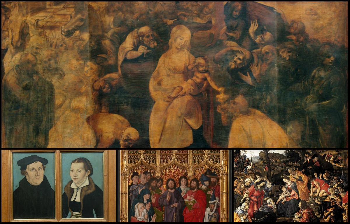 Gallerie degli Uffizi, Firenze, Italia, Mostre, 2017, Leonardo da Vinci, Adorazione dei Magi