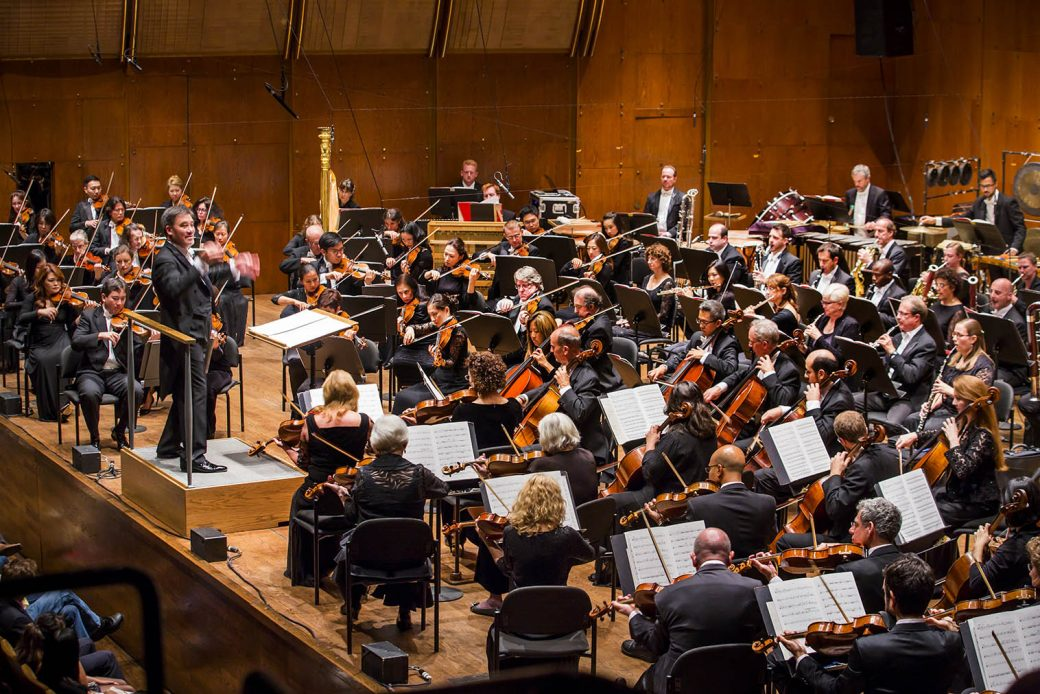 Alan Gilbert conducts the New York Philharmonic with Esa-Pekka Salonen at David Geffen Hall, 9/25/15. Photo by Chris Lee, NYPhil