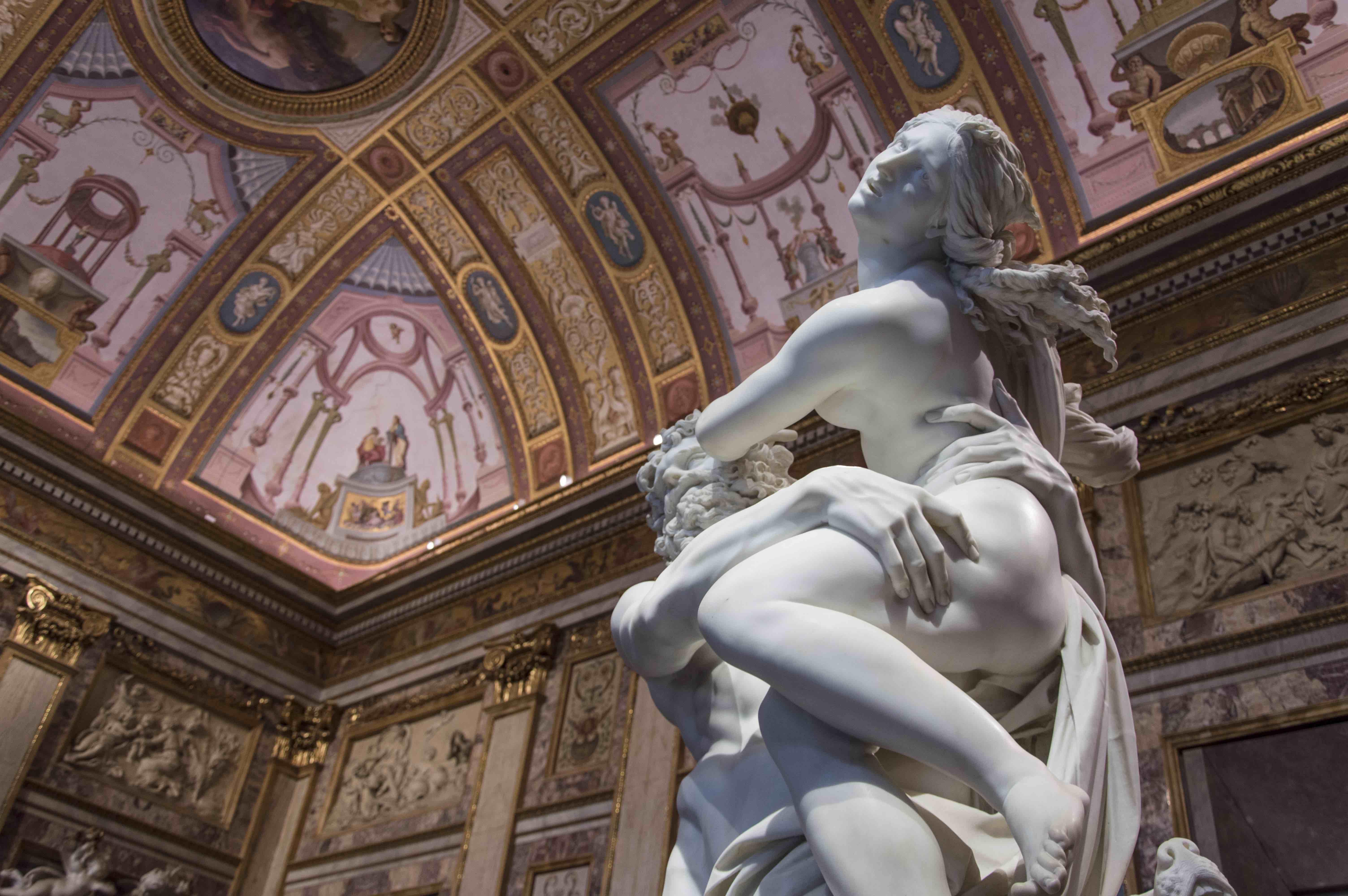 Galleria Borghese, Villa Borghese, Roma, Gianlorenzo Bernini, Pietro Bernini, Anna Coliva, Andrea Bacchi, Ratto di Proserpina, Bernini, Roma, Marmo, Scultura, gruppi borghesiani, mostra