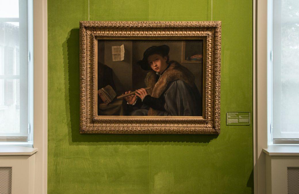 Pinacoteca Tosio Martinengo, Brescia, Ritratto di giovane flautista, 1540, Gerolamo Savoldo, Brescia Musei