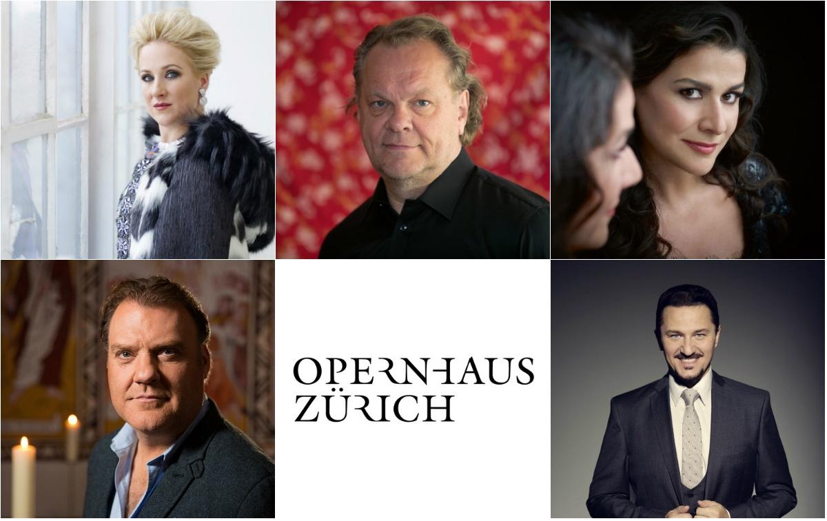 Opernhaus Zurich Season1819, Diana Damrau, Michael Volle, Cecilia Bartoli, Bryn Terfel, Piotr Beczala, Zurigo Stagione1819, Zurigo 2018/2019