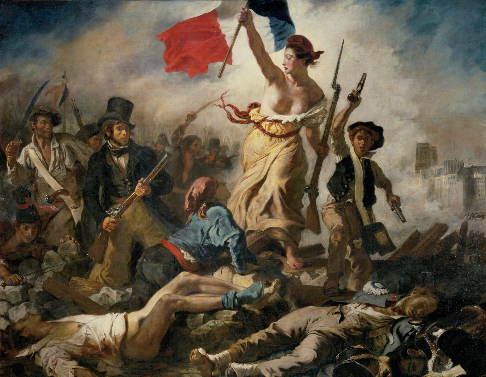 Delacroix, Louvre, Le 28 juillet 1830. La Liberté guidant le peuple, La libertà guida il popolo