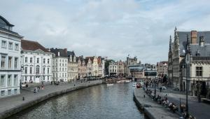 Gand, Gent. Ghent, Belgio, Fiandre. Flanders, Belgium, Graslei e Korenlei