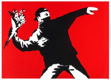 Flower Thrower, Mudec, Milano, Banksy, 24 Ore cultura, Gianni Mercurio, Arte, Street Art, Love is in the Air, A visual Protest