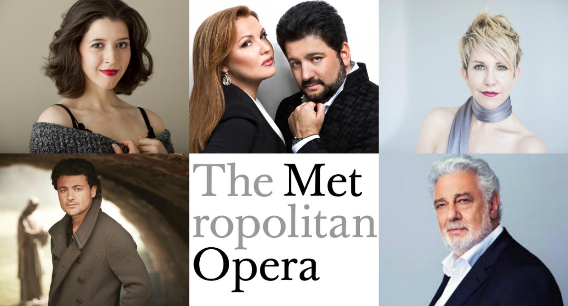 Metropolitan Opera House; MET1920; Met 19/20; Anna Netrebko; Yusif Eyvazov; Lisette Oropesa; Placido Domingo; Joyce DiDonato; Vittorio Grigolo;