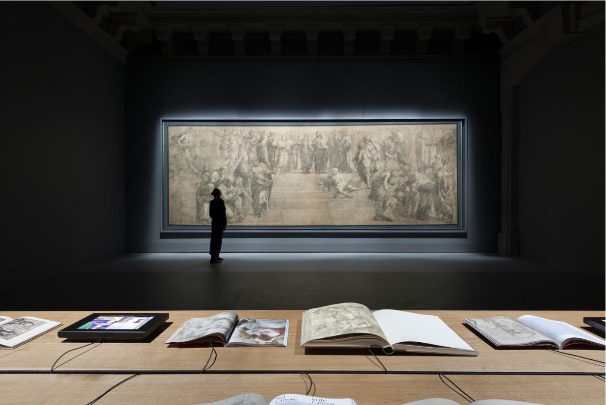 Ambrosiana; Cartone di Raffaello; Raffaello Sanzio; Pinacoteca Ambrosiana; restauro, Cartone